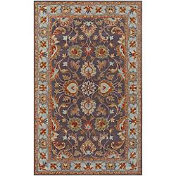Artistic Weavers Carpette d'intérieur, 8 pi x 11 pi, style traditionnel, rectangulaire, bleu Benicia