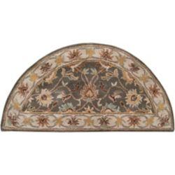 Artistic Weavers Carpette d'appoint d'intérieur, 2 pi x 4 pi, style transitionnel, demi-ronde, havane Berkeley