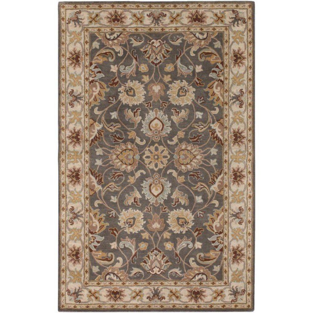 Berkeley Charcoal Wool  - 4 Ft. x 6 Ft. Area Rug