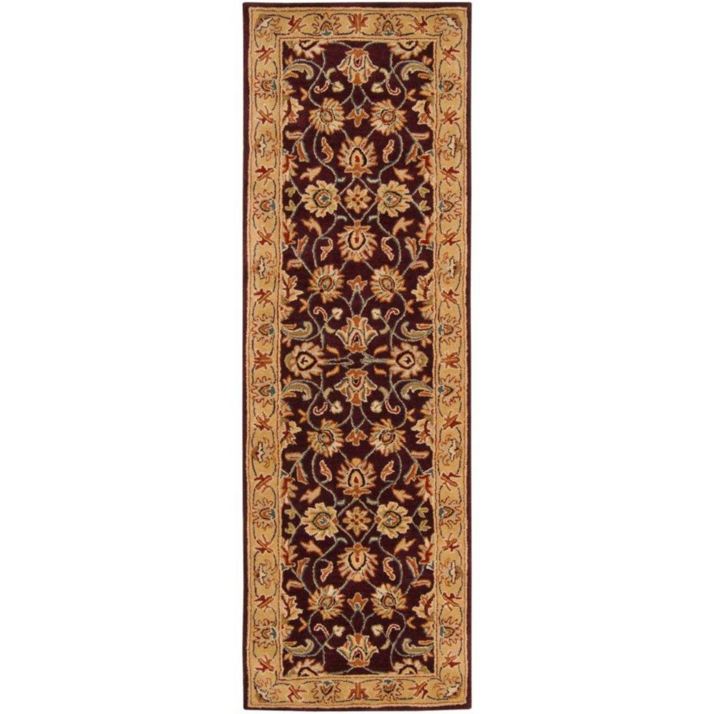 Buellton Plum Wool Runner - 2 Ft. 6 In. x 8 Ft. Area Rug