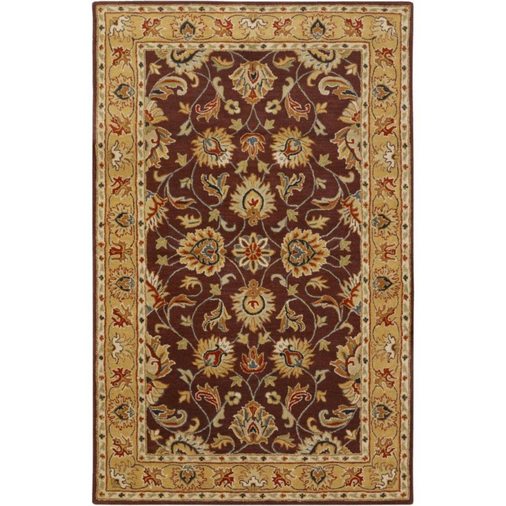 Buellton Plum Wool  - 5 Ft. x 8 Ft. Area Rug