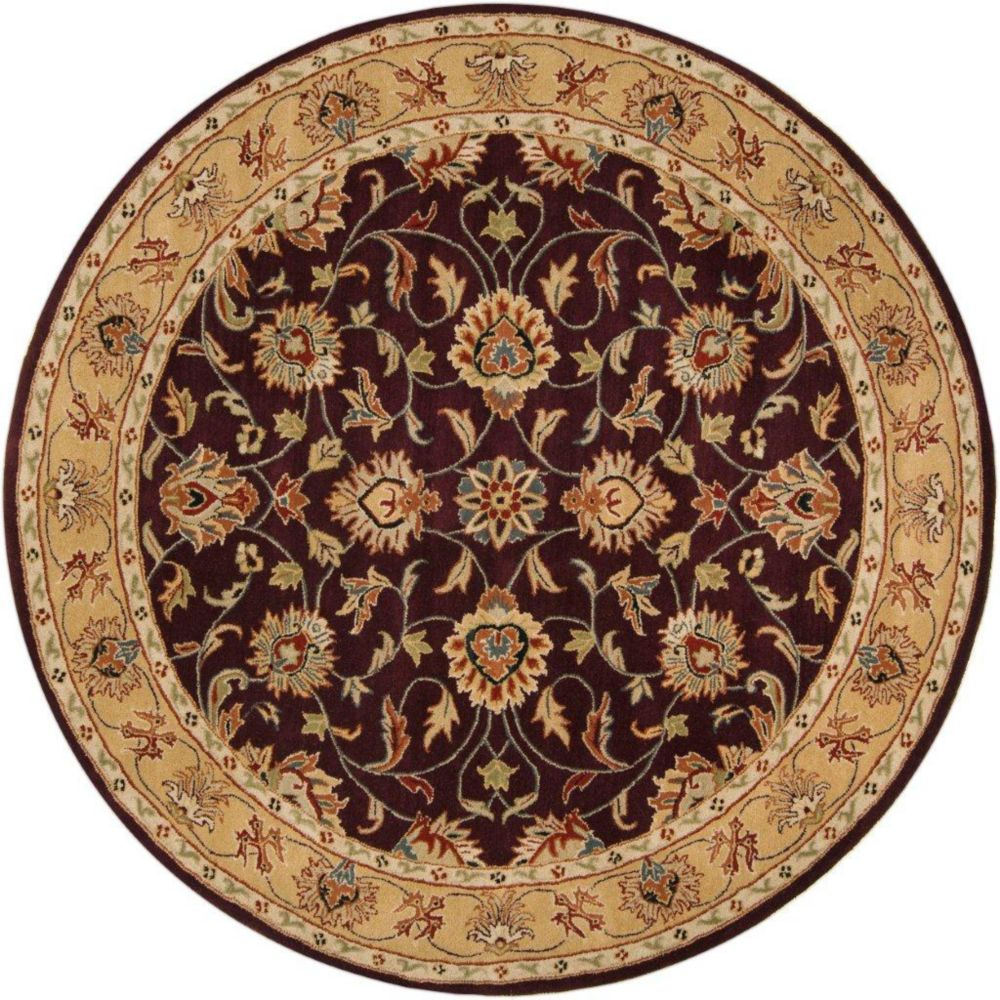 Artistic Weavers  Tapis Buellton prune en laine, rond  - 8 Po.