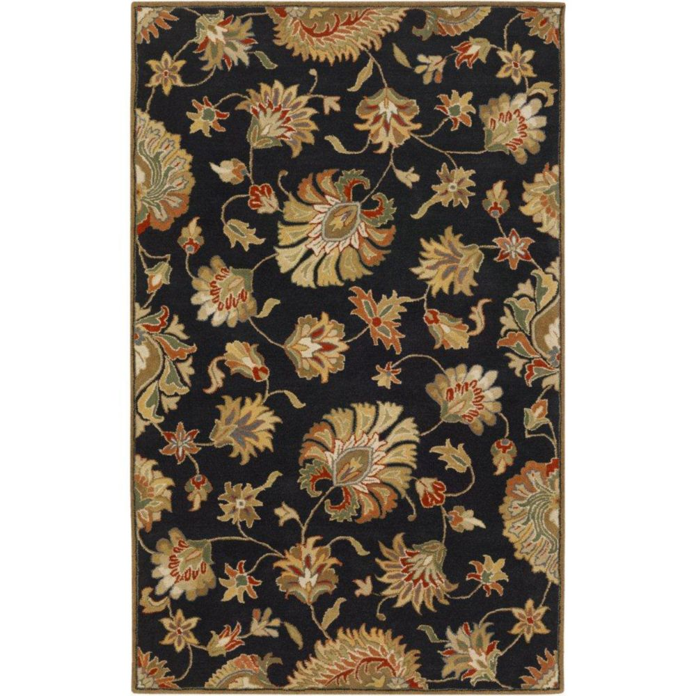 Artistic Weavers  Tapis Burbank noir en laine  - 4 Po. x 6 Po.