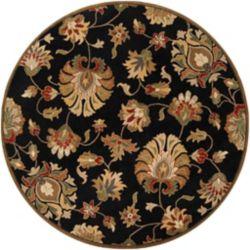 Artistic Weavers Carpette d'intérieur, 4 pi x 4 pi, style traditionnel, ronde, noir Burbank
