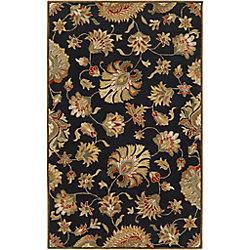 Artistic Weavers Carpette d'intérieur, 8 pi x 11 pi, style transitionnel, rectangulaire, noir Burbank