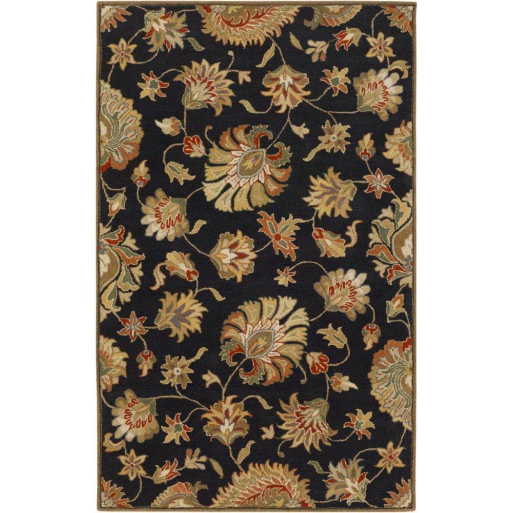 Burbank Black Wool  - 8 Ft. x 11 Ft. Area Rug