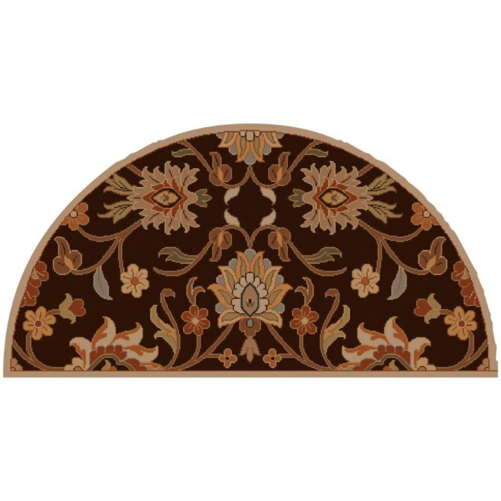 Dachstein Chocolate Wool Hearth Accent Rug - 2 Ft. x 4 Ft. Area Rug