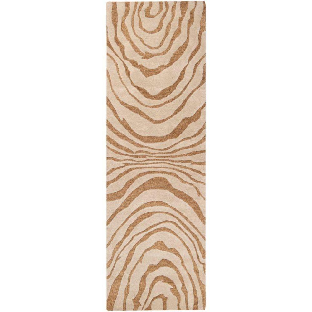 Merritt Beige New Zealand Wool 2 Feet 6 Inch x 8 Feet Runner