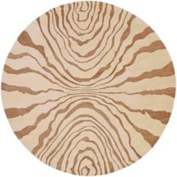 Artistic Weavers Carpette d'intérieur, 8 pi x 8 pi, style transitionnel, ronde, havane Merritt