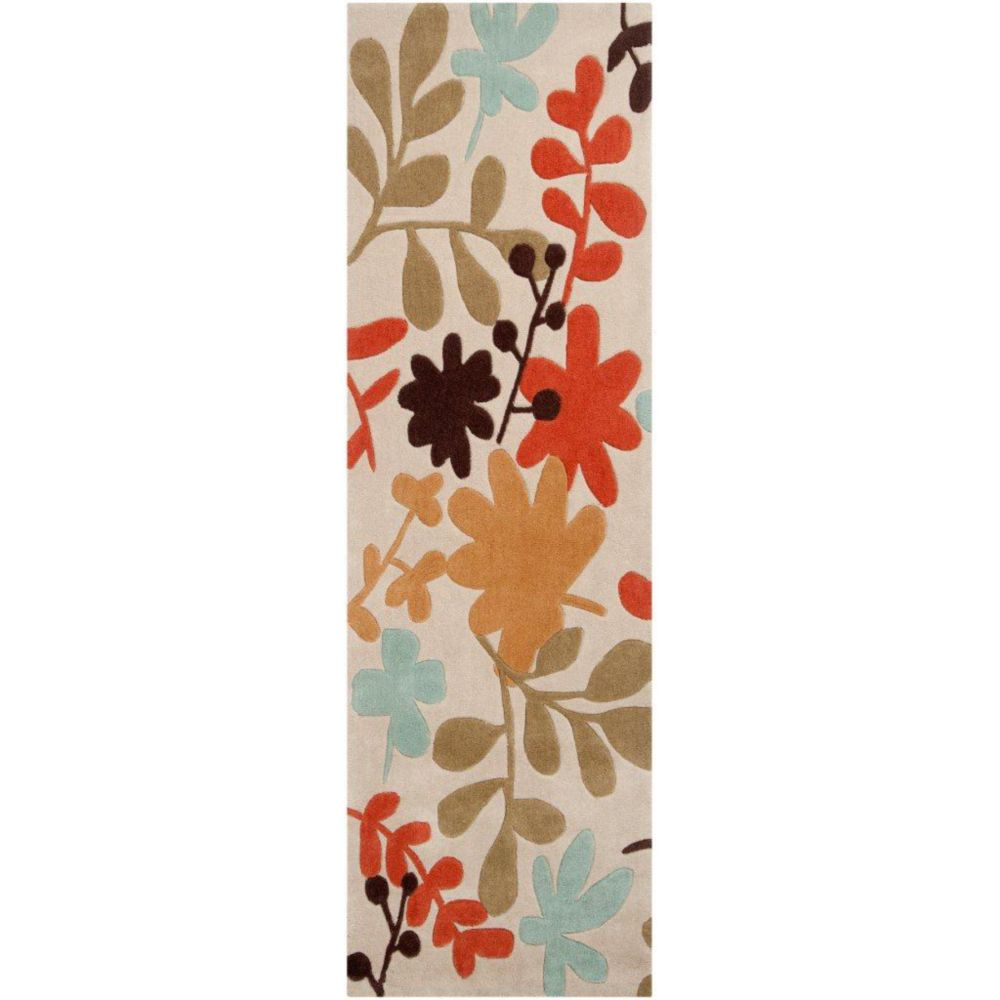 Nailly Ivory Polyester Runner - 2 Ft. 6 In. x 8 Ft. Area Rug