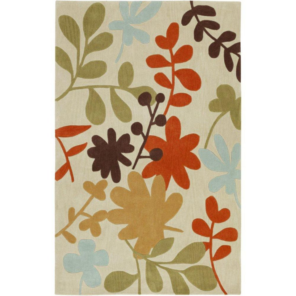 Nailly Ivory Polyester  - 3 Ft. 6 In. x 5 Ft. 6 In. Area Rug