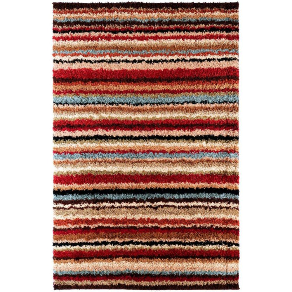 Naintre Red Polypropylene 5 Ft. 3 In. x 7 Ft. 6 In. Area Rug