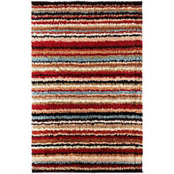 Artistic Weavers Naintre Red 5 ft. 3-inch x 7 ft. 6-inch Indoor Contemporary Rectangular Area Rug