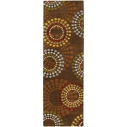 Artistic Weavers Tapis de passage d'intérieur, 2 pi 6 po x 8 pi, style contemporain, brun Rantigny