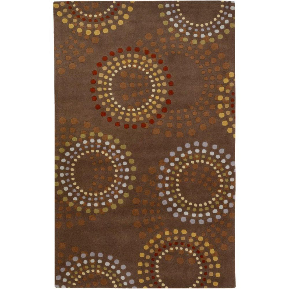 Rantigny Chocolate Wool 6 Feet x 9 Feet Area Rug