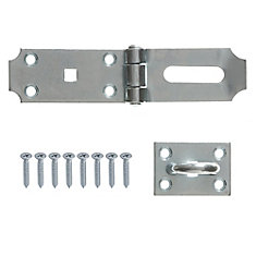7-1/2-Inch Zinc Plated Heavy Duty Hinge Hasp - 1pk