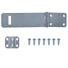 6-Inch Zinc Plated Safety Hasp - 1pk