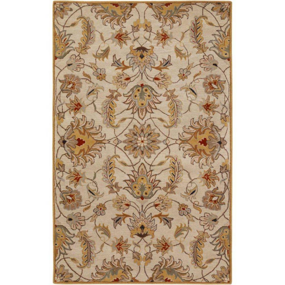 Calimesa Gold Wool  - 5 Ft. x 8 Ft. Area Rug