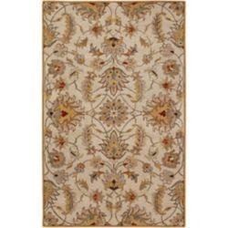 Artistic Weavers Carpette d'intérieur, 5 pi x 8 pi, style transitionnel, rectangulaire, or Calimesa