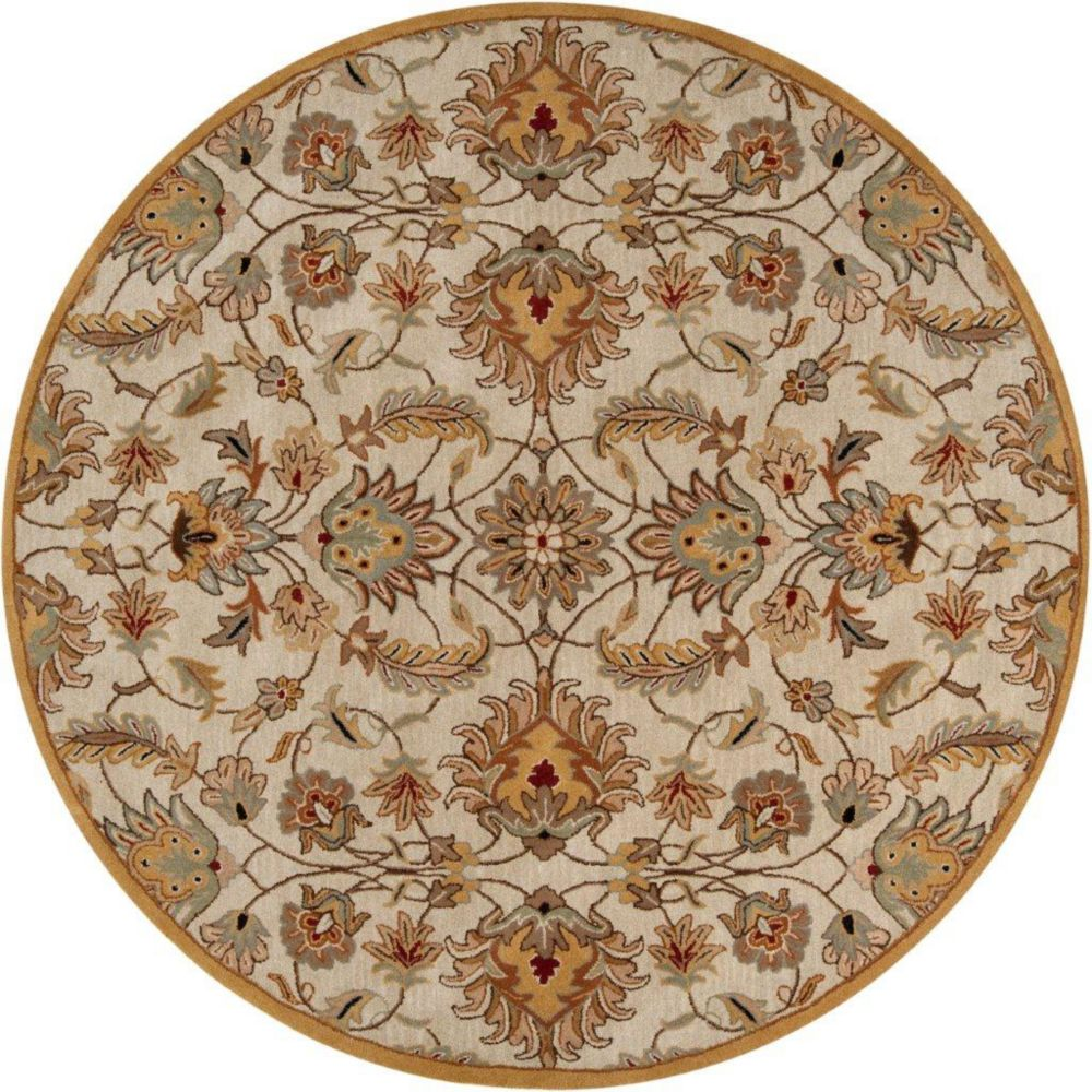 Calimesa Gold Wool Round  - 6 Ft. Area Rug