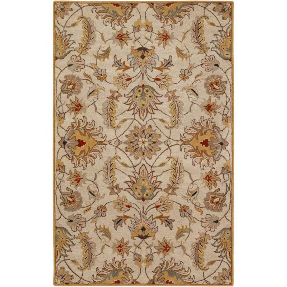 Calimesa Gold Wool  - 7 Ft. 6 In. x 9 Ft. 6 In. Area Rug