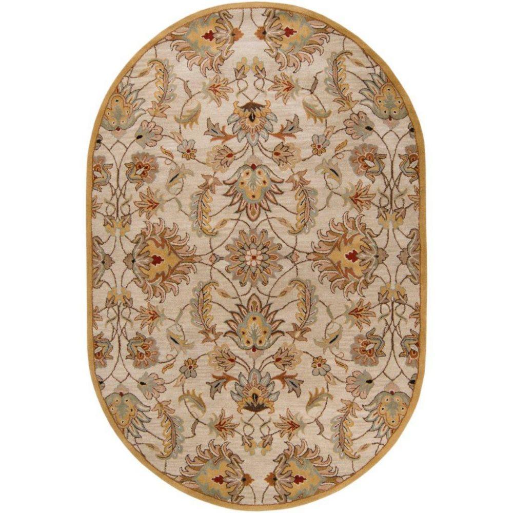 Calimesa Gold Wool Oval  - 8 Ft. x 10 Ft. Area Rug