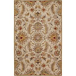 Artistic Weavers Carpette d'intérieur, 8 pi x 11 pi, style transitionnel, rectangulaire, or Calimesa