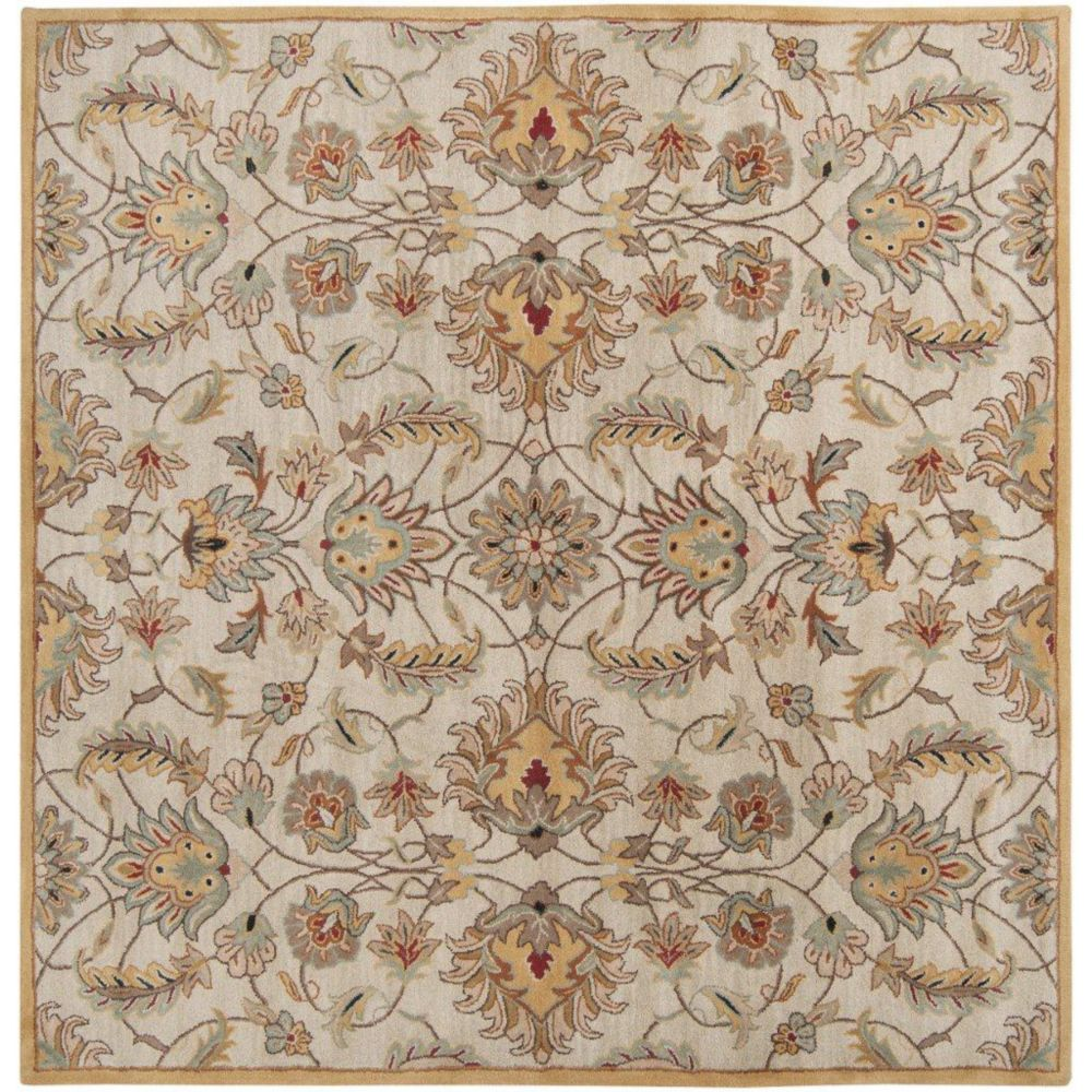 Calimesa Gold Wool Square  - 8 Ft. Area Rug