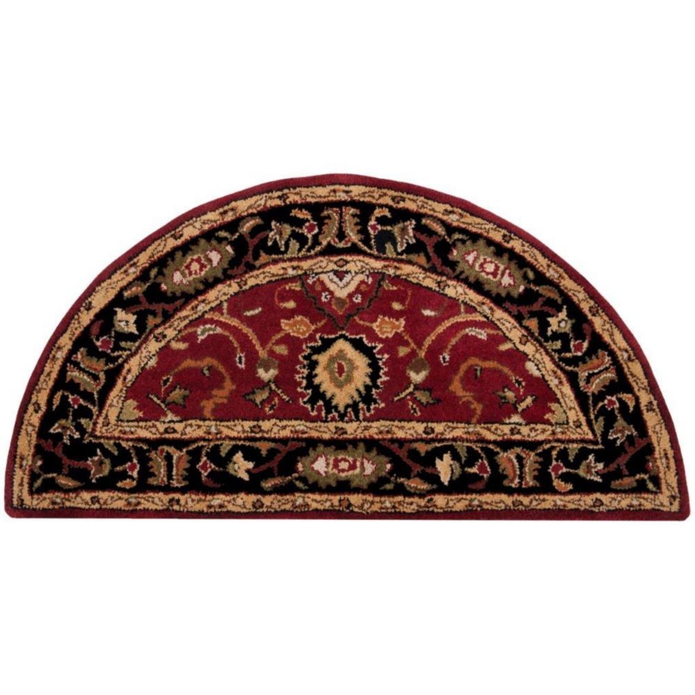 Calistoga Red Wool Hearth Accent Rug - 2 Ft. x 4 Ft. Area Rug