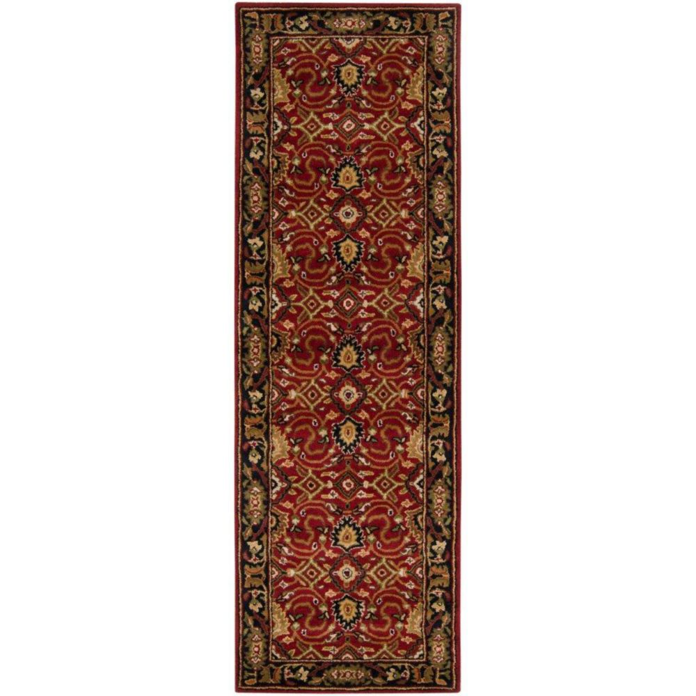 Calistoga Red Wool  - 3 Ft. x 12 Ft. Area Rug