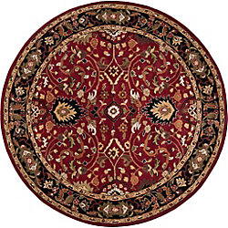 Artistic Weavers Calistoga Red 4 ft. x 4 ft. Indoor Traditional Round Area Rug
