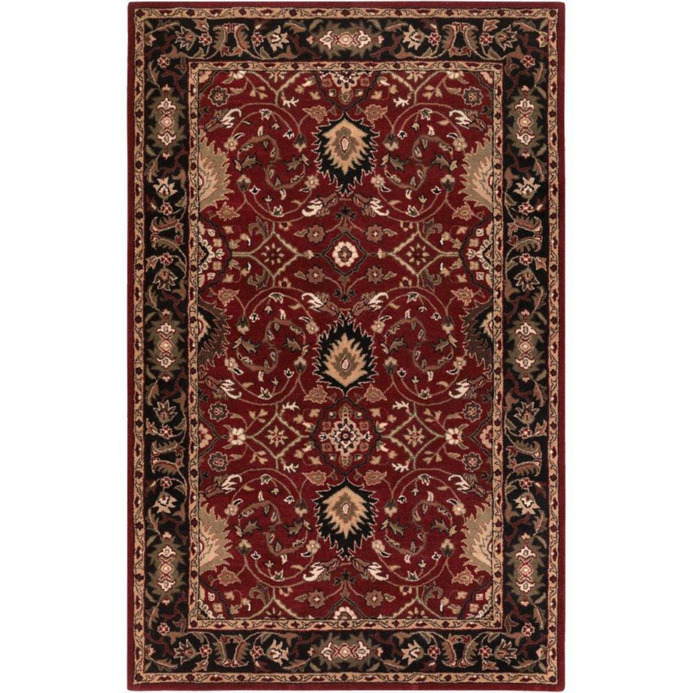 Calistoga Red Wool  - 5 Ft. x 8 Ft. Area Rug