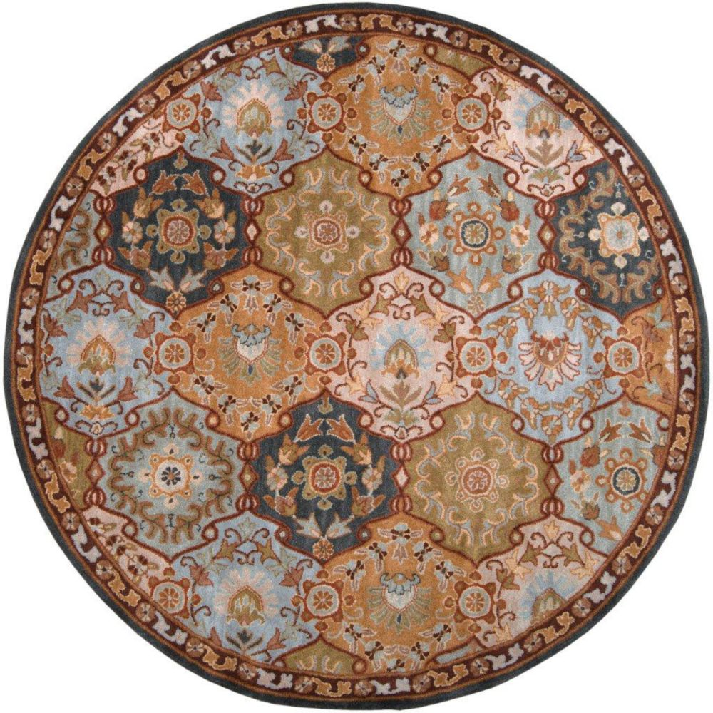 Camarillo Blue Wool Round  - 6 Ft. Area Rug