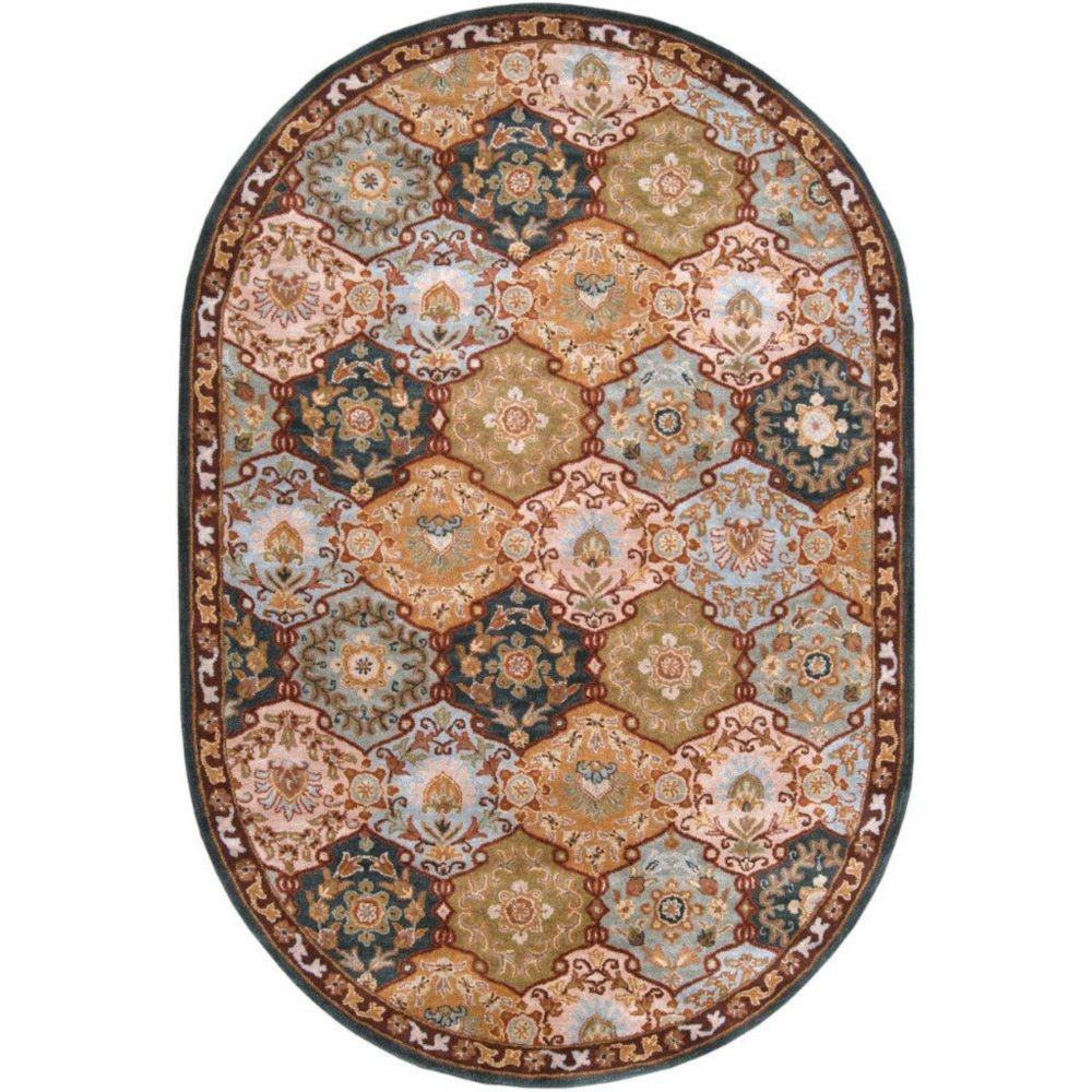 Camarillo Blue Wool Oval  - 8 Ft. x 10 Ft. Area Rug