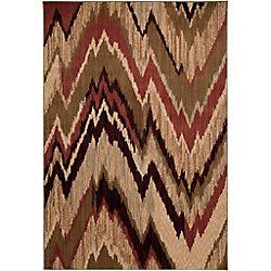 Artistic Weavers Carpette d'intérieur, 10 pi x 13 pi, style transitionnel, rectangulaire, rouge Camrose