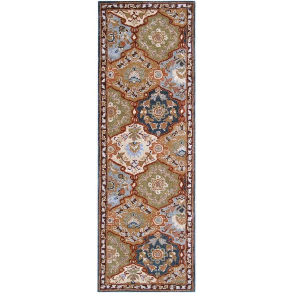 Artistic Weavers Camarillo Blue 3 ft. x 12 ft. Indoor Traditional Runner