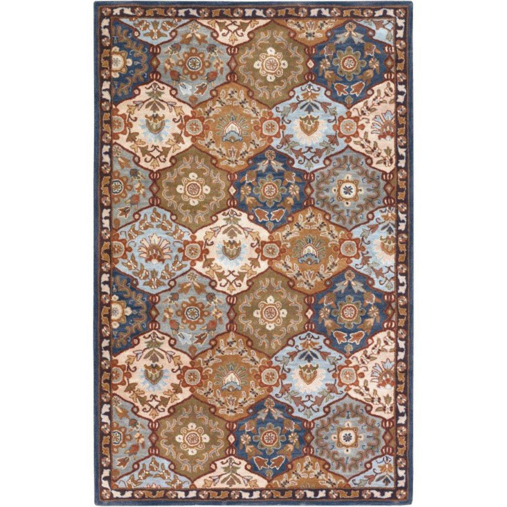 Camarillo Blue Wool  - 4 Ft. x 6 Ft. Area Rug