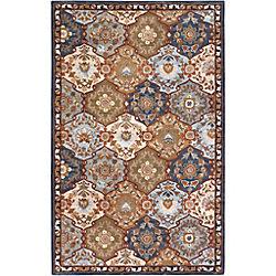Artistic Weavers Carpette d'intérieur, 5 pi x 8 pi, style traditionnel, rectangulaire, bleu Camarillo