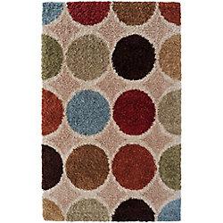 Artistic Weavers Carpette d'intérieur, 1 pi 11 po x 3 pi 3 po, style contemporain, rectangulaire, havane Nalliers
