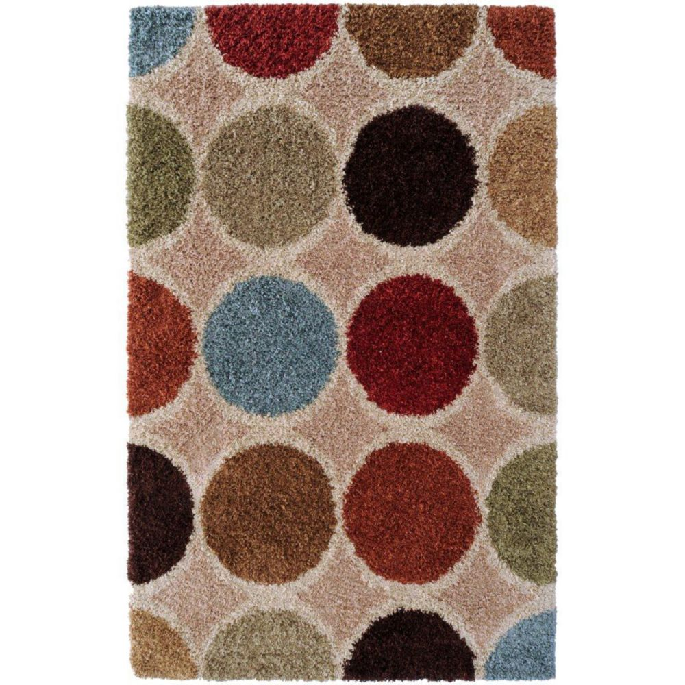Nalliers Beige Polypropylene 5 Ft. 3 In. x 7 Ft. 6 In. Area Rug