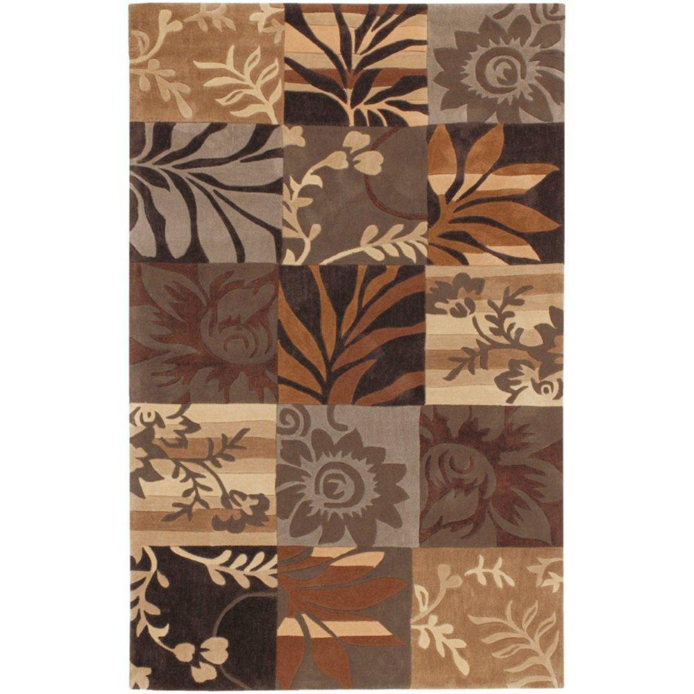 Gaillac Brown Polyester  - 3 Ft. 6 In. x 5 Ft. 6 In. Area Rug