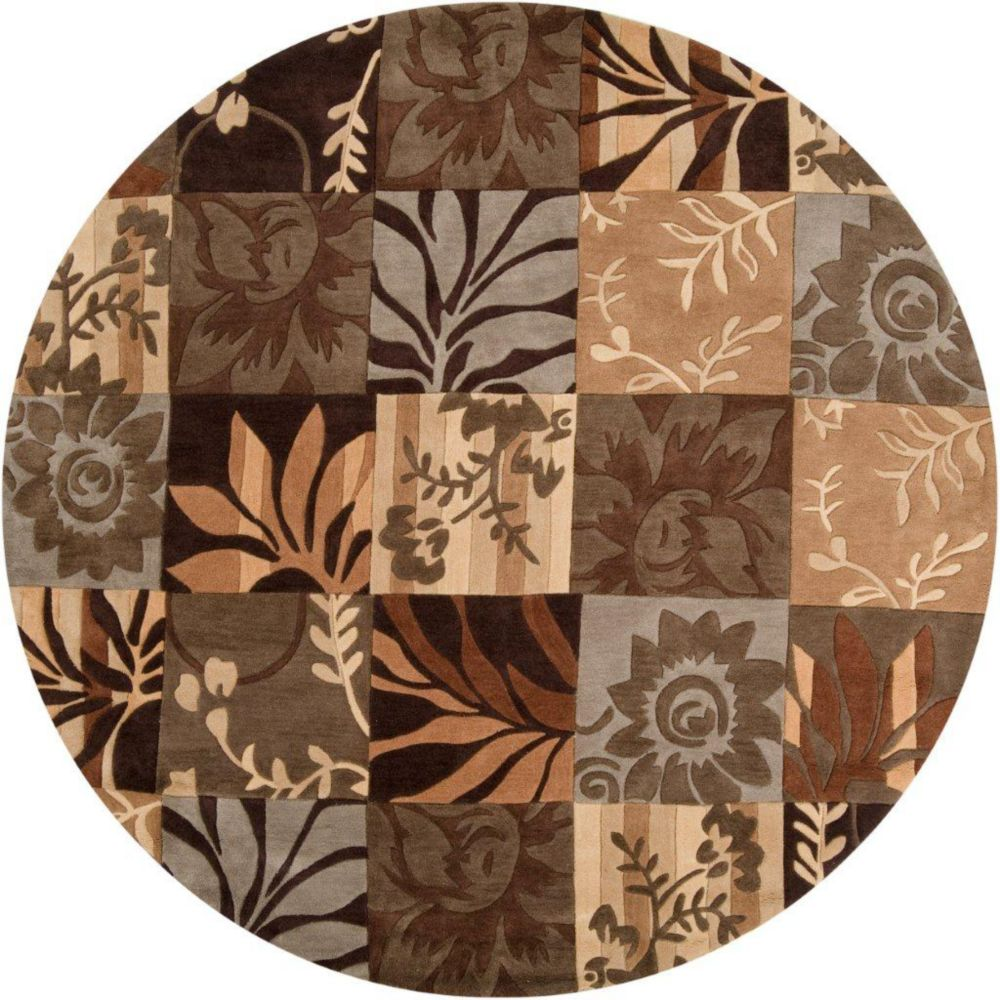 Artistic Weavers  Tapis Gaillac brun  polyester, rond  - 8 Po.