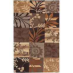 Artistic Weavers Carpette d'intérieur, 9 pi x 13 pi, style transitionnel, rectangulaire, brun Gaillac