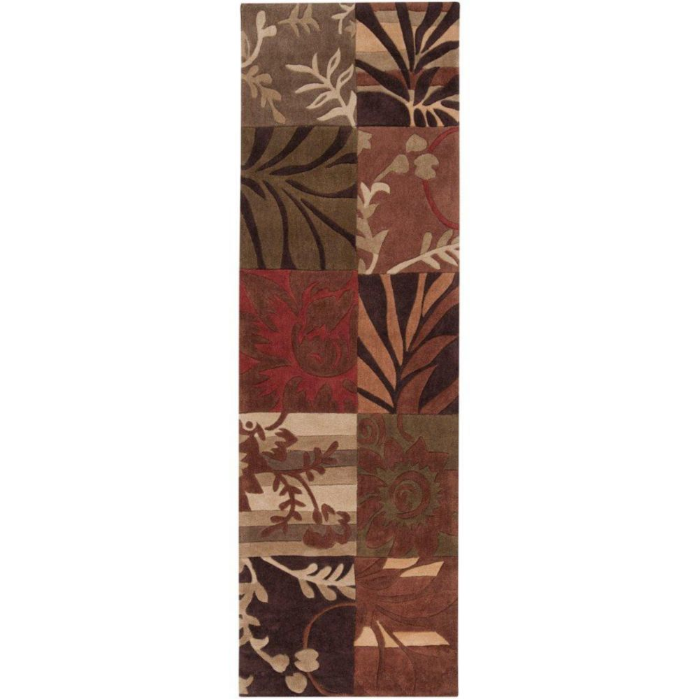 Habas Avocado Polyester Runner - 2 Ft. 6 In. x 8 Ft. Area Rug