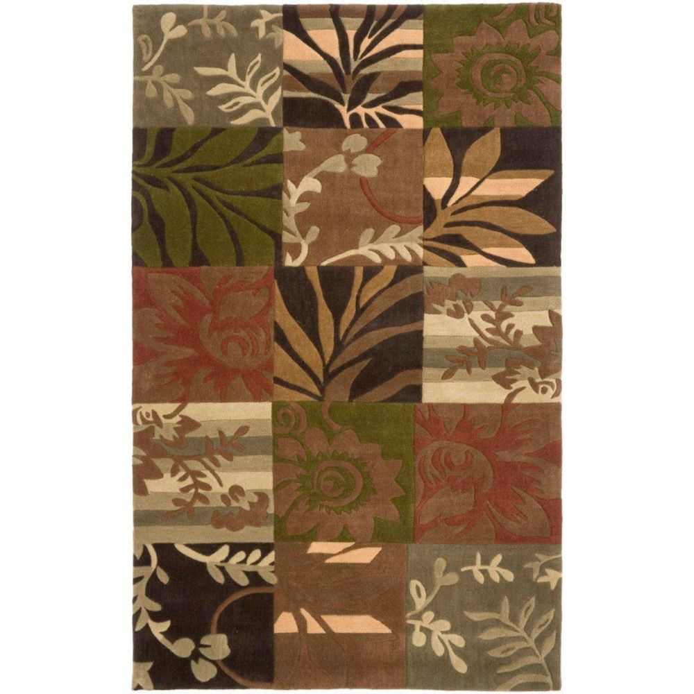 Habas Avocado Polyester  - 3 Ft. 6 In. x 5 Ft. 6 In. Area Rug