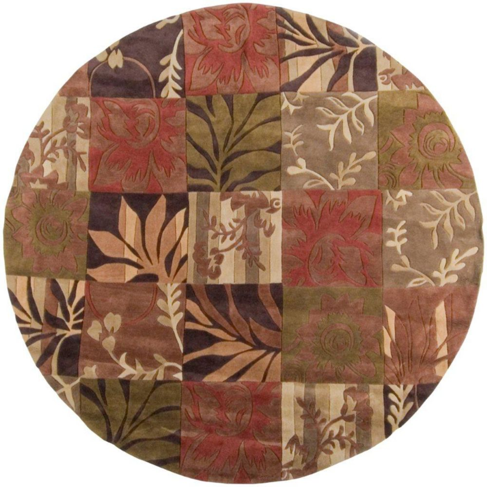 Habas Avocado Polyester Round  - 8 Ft. Area Rug
