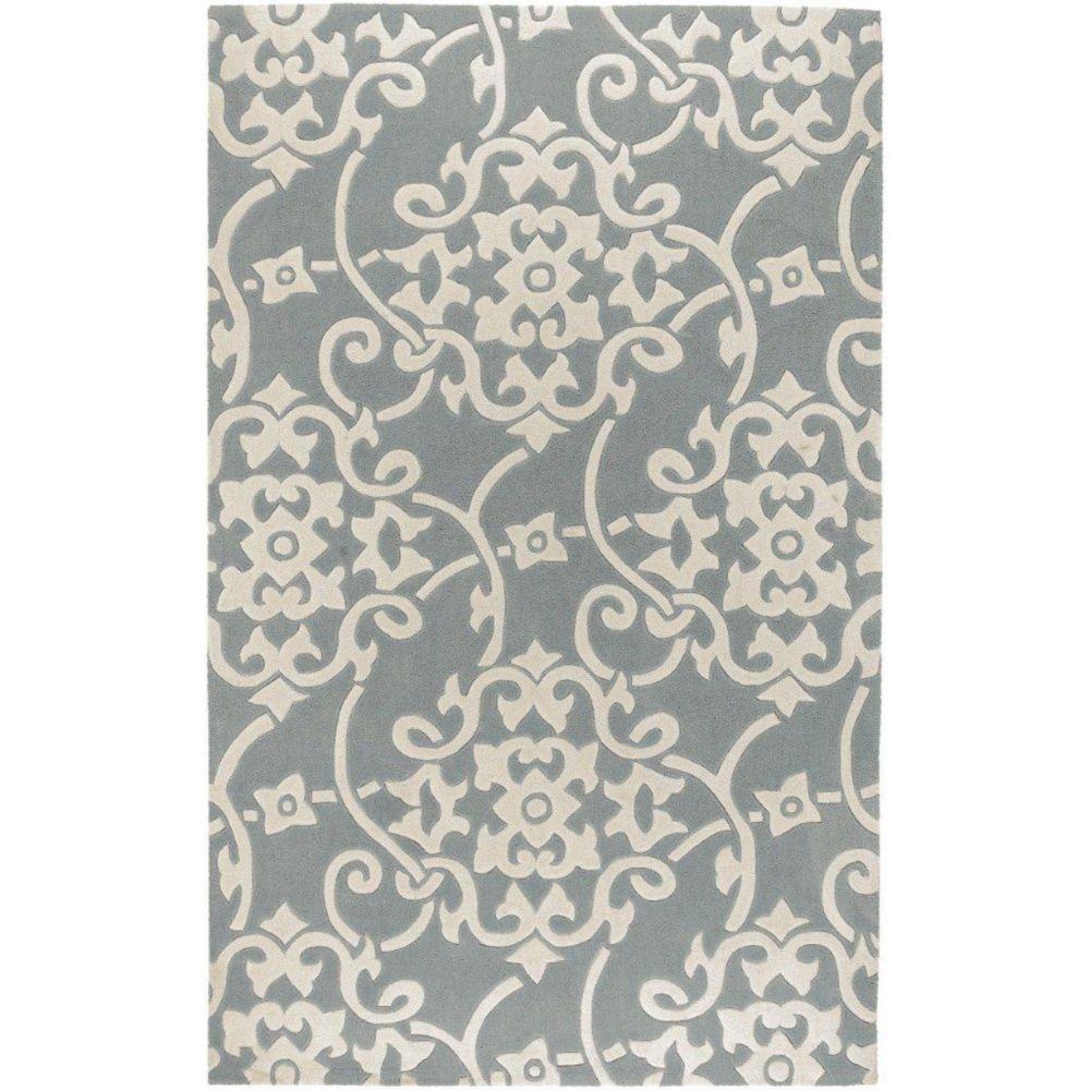 Artistic Weavers Carpette d'intérieur, 3 pi 6 po x 5 pi 6 po, style transitionnel, rectangulaire, gris Haisnes