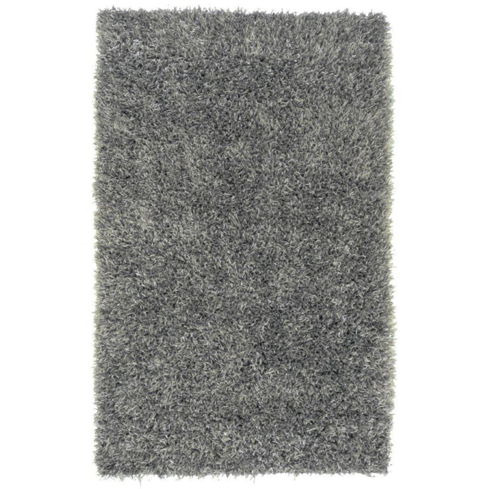 Kelowna Gray Polyester 5 Ft. x 8 Ft. Area Rug