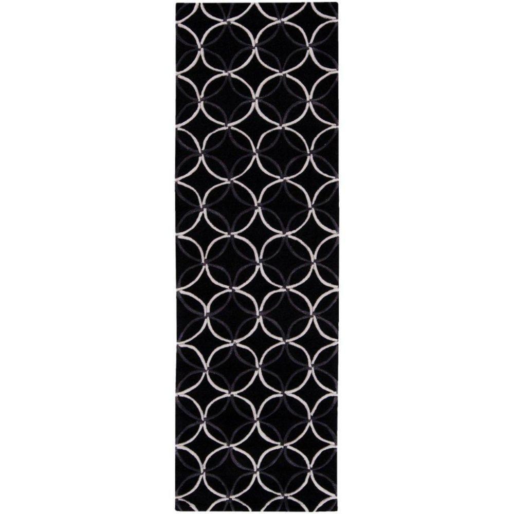Killem Black Polyester 2 Feet 6 Inch x 8 Feet Runner