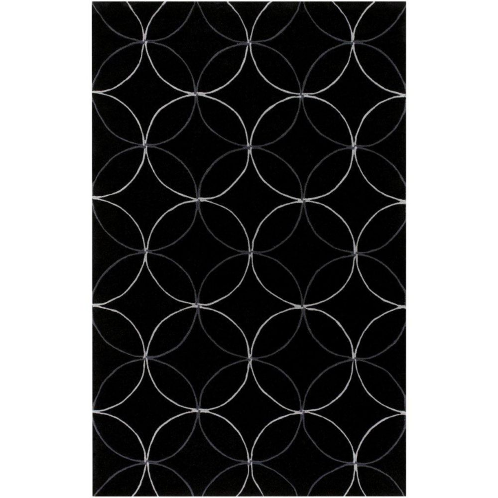 Killem Black Polyester 5 Ft. x 8 Ft. Area Rug